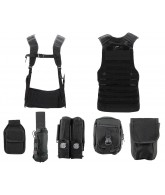 Angel Fat Boy Molle Vest w/ Accessories - Black