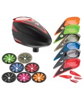 Dye Rotor Paintball Loader w/ Quick Feed & Color Kit - Red