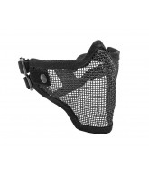 2G Strike Steel Half Airsoft Mask - Black