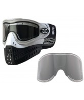 Empire E-Flex Paintball Mask w/ Free Chrome Lens - White