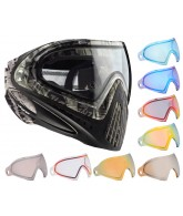 Dye Invision Goggle I4 Pro Mask w/ Additional Mirror Lens - Grey Tiger