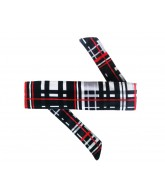 HK Army Headband - Plaid Grey