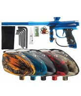 2012 Proto Reflex Rail Paintball Gun w/ Rotor Loader - Blue/Teal Dust