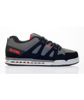 Globe Option Grey/Black/Red - Mens Skate Shoes