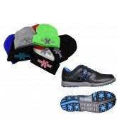 HK Shredder Paintball Cleats w/ Free Beanie - Black/Blue