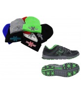 HK Shredder Paintball Cleats w/ Free Beanie - Black/Lime