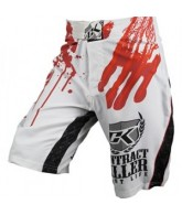 Hybrid Contract Killer Stained Shorts - White