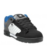 DVS Militia - Black/White/Grey Nubuck - Skateboard Shoes