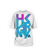 HK Army Dusk Paintball T-Shirt - White - Pink/Blue