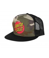 Santa Cruz Classic Dot Trucker Mesh Hat - One Size Fits All - Camo/Black