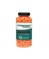 Kingman Training 11mm Premium Paintballs - 500 Round Bottle - Orange