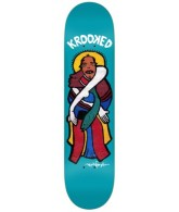 Krooked Gonz Peces Santo - Blue - 8.25 - Skateboard Deck