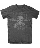 Lynyrd Skynyrd Band Biker Patch - Dark Heather - Band T-Shirt