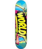 World Industries Ka Pow- Blue/Yellow - 8.1 - Skateboard Deck