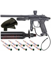 Azodin 2011 Kaos Pump Paintball Gun w/ Ninja Tank + Pocket Hopper - Black
