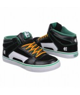 Etnies Kids' RVM Vulc - Kids Shoes Black/Green/ White - Size 12