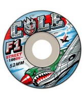 Spitfire Wheels F1 Cole Warhawk White - 56mm - Skateboard Wheels