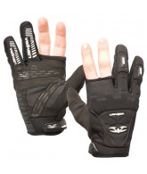 2012 Valken Impact Two Finger Paintball Gloves - Black