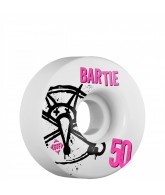 Bones STF Pro Bartie Numbers - 50mm - White - Skateboard Wheels
