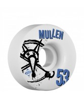 Bones STF Pro Mullen Numbers - 53mm - White - Skateboard Wheels