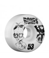 Bones Skate Park Formula Twerp - 53mm - White - Skateboard Wheels